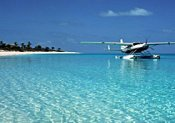 Seaplane in the Bahamas