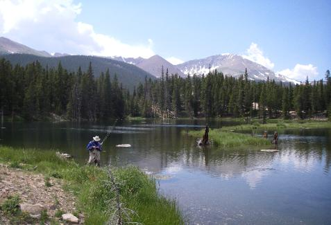 Fly Fishing on a Colorado Lake