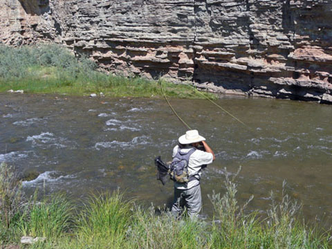 Fishing the Pecos River with Carlos Montoya