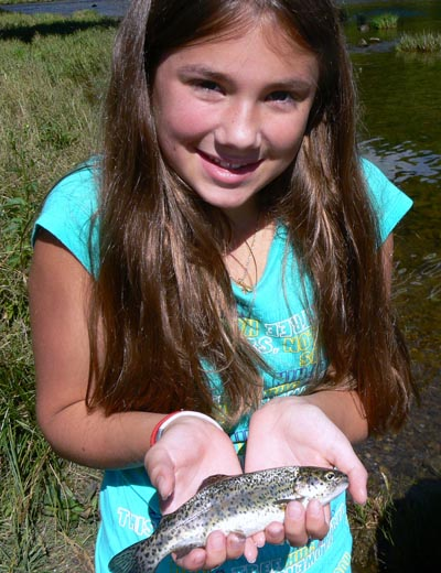 Amanda catches and releases Rainbow Trout on the South Holston River in eastern Tennessee
