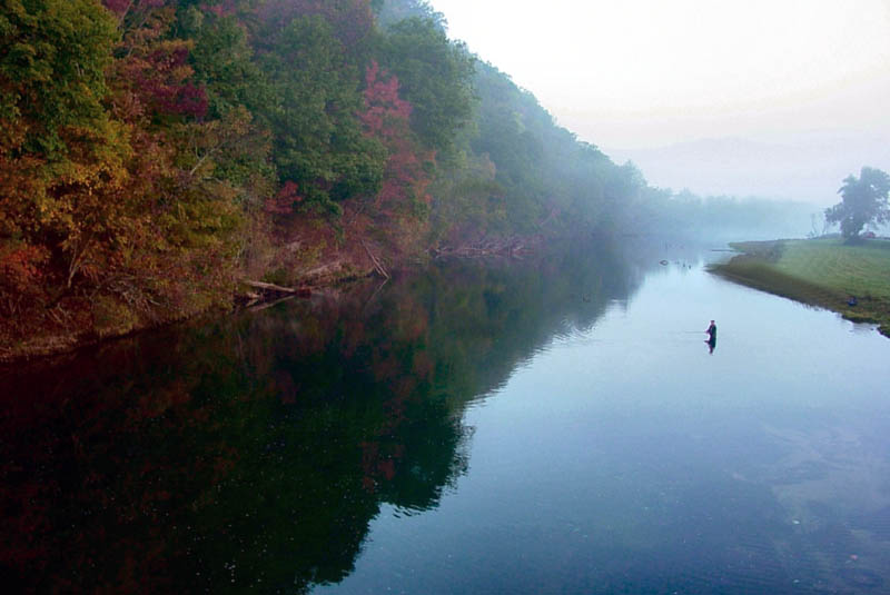 A stretch of the Watauga river