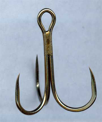treble barbless hook