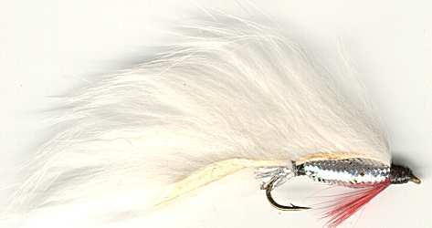 White Zonker Fly