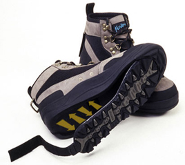 Wading Boots with Interchangeable Soles