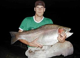 World Record Rainbow Trout - 43.6 lbs.