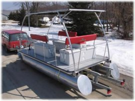 Solar Powered Pontoon Boat