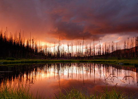 Trappers Lake at sunset