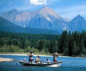 Scene of Westslope Lake, Canada